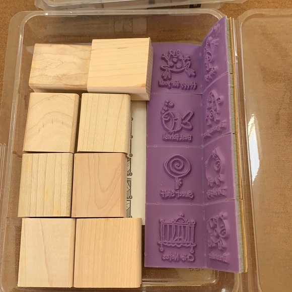 "Stampin' Up 8 piece ""Very Punny""stamp collection"